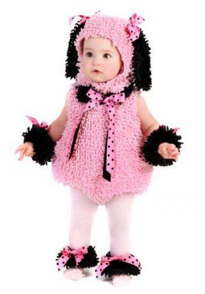 Fantasia Infantil Cachorro Poodle Rosa BABY PINK POODLE COSTUME