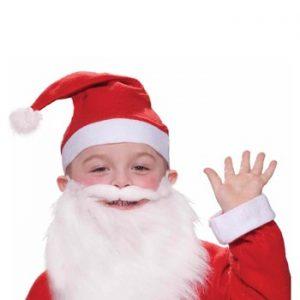 Kit de Acessórios Infantil Papai Noel CHILD SANTA BEARD AND MOUSTACHE