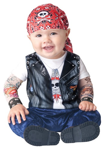 Fantasia para Bebê Motociclista BABY BORN TO BE WILD BIKER
