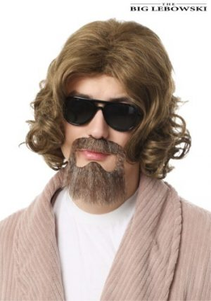 Kit de Acessórios Adulto Peruca e Barba de Mago BIG LEBOWSKI ADULT THE DUDE WIG AND BEARD KIT