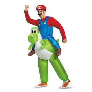 Fantasia para Homem Adulto Super Mário Disguise Mario Riding Yoshi – Tamanho Único