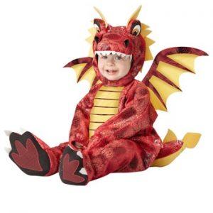 Fantasia para Bebê/Infantil Dragão Vermelho ADORABLE DRAGON INFANT COSTUME