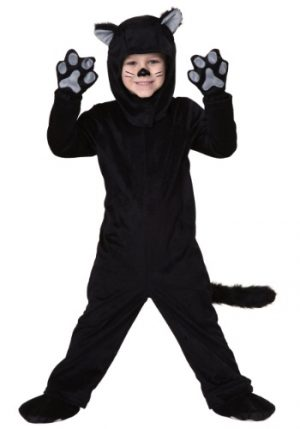 Fantasia Infantil Gato Preto TODDLER LITTLE BLACK CAT COSTUME