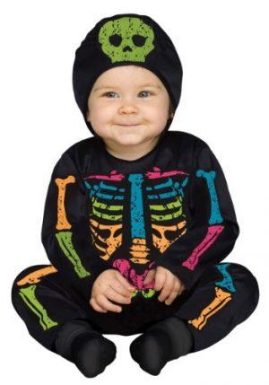 Fantasia Para bebê  Esqueleto colorido INFANT COLOR BONES JUMPSUIT COSTUME