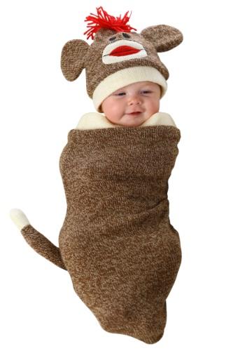 Fantasia para Bebê Recém Nascido Macaco SOCK MONKEY NEWBORN BUNTING COSTUME