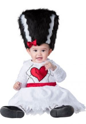 Fantasia Bebê Infantil Noiva do Frankstein INFANT MONSTER BRIDE COSTUME