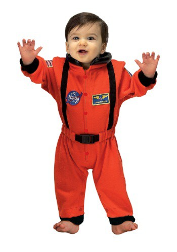 Fantasia Bebê Astronauta Laranja INFANT ORANGE ASTRONAUT ROMPER COSTUME