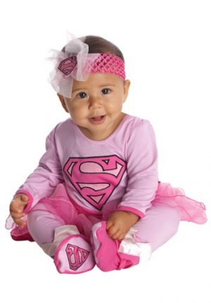 Fantasia para Bebê SuperGirl SWEET SUPER GIRL ONESIE COSTUME