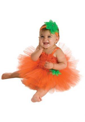 Fantasia Infantil abóbora de luxo TAMANHO DE 6 A 12 MESES  INFANT PUMPKIN TUTU DRESS COSTUME