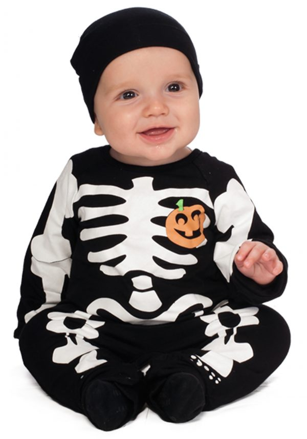 Fantasia Infantil de bebê  INFANT BLACK SKELETON COSTUME