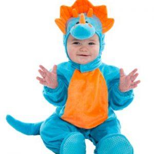 Fantasia para Bebê Dinossauro Azul e Laranja INFANT BLUE AND ORANGE DINO