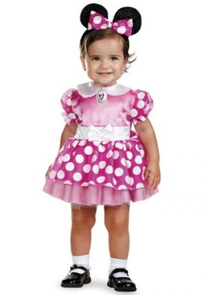 Fantasia Bebê Infantil Minnie Mouse Rosa INFANT PINK MINNIE MOUSE COSTUME