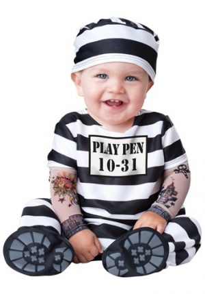 Fantasia para Bebê Presidiário INFANT TIME OUT PRISONER COSTUME