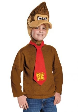 Kit de Acessórios Infantil Macaco Donkey Kong Capuz + Gravata DONKEY KONG CHILD KIT