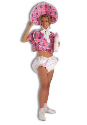 Kit de Acessórios Adulto Bebê Fralda + Pino de segurança + Chupeta – Pink PINK ADULT BABY KIT