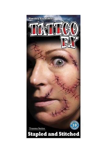 Kit de Tatuagem Temporária Ferimento + Sutura STAPLED AND STITCHED TEMPORARY TATTOO KIT