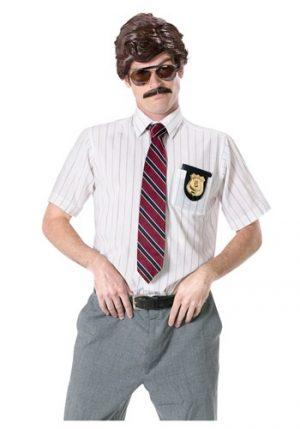 Kit de Acessórios Detetive dos Anos 70 Peruca+ Bigode+ Oculos escuros+ Emblema com suporte70S DETECTIVE COSTUME KIT
