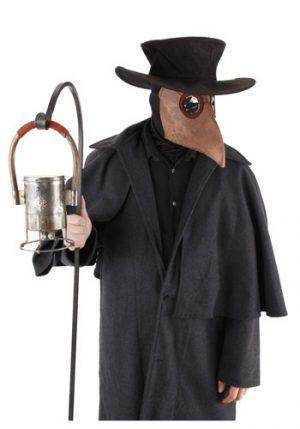 Kit de Acessórios Médico de Pragas Máscara + capuz + Chapéu PLAGUE DOCTOR KIT