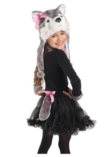Chapéu Colarinho Algemas De Pulso Rabo Lobo para Meninas WOLF COSTUME KIT FOR GIRLS