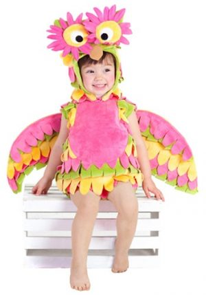Fantasia Infantil Coruja Rosa LITTLE COLORFUL OWL COSTUME
