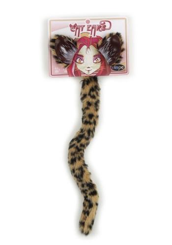 Kit de Acessórios Chita CHEETAH CAT EARS AND TAIL SET