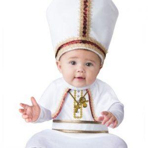 Fantasia Bebê Papa PINT SIZED POPE BABY COSTUME