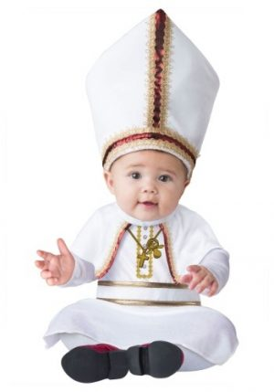 Fantasia Bebê Papa PINT SIZED POPE BABY COSTUME