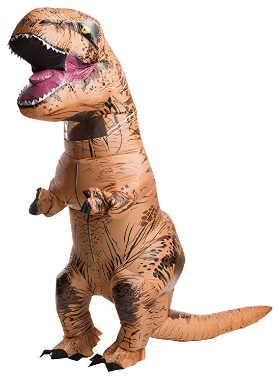 Fantasia Adulto Inflável Jurassic World Dinossauro Rex Fallen Kingdom Inflatable