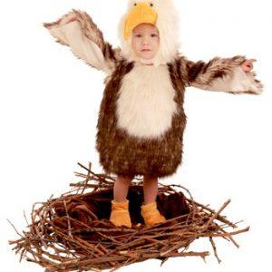 Fantasia Bebê Infantil Águia Bebê TODDLER BALD EAGLE COSTUME