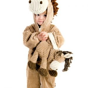 Fantasia Infantil Cavalo TODDLER CORDUROY HORSE COSTUME