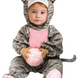 Fantasia Bebê / Infantil Gato Listrado Rosa STRIPED GRAY KITTEN