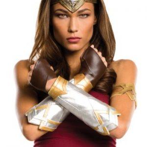 Kit de Acessórios Adulto Mulher Maravilha Tiara + Par de Glovelets + Par de Manoplas WONDER WOMAN ADULT ACCESSORY KIT