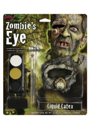 Kit de Maquiagem de Látex Zumbi ZOMBIE'S EYE LATEX MAKEUP KIT