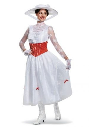 Fantasia Mary Poppins Clássica Luxo WOMEN'S DELUXE MARY POPPINS COSTUME