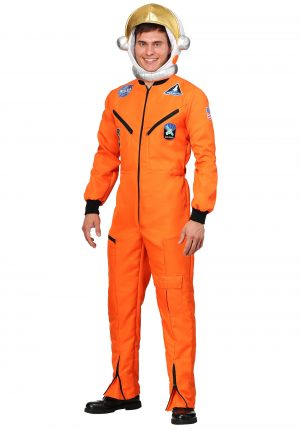 FANTASIA ADULTO ASTRONAUTA MACACÃO ORANGE ASTRONAUT JUMPSUIT ADULT COSTUME