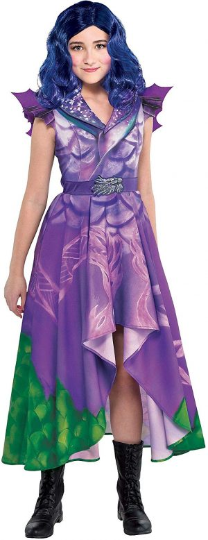 Fantasia Descendentes 3 Disney Mal Dragão Infantil Elite Vestido Child Mal Costume – Descendants 3