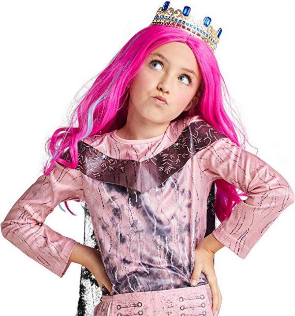 Coroa Descendentes 3 Disney Audrey Infantil Luxo Audrey Wig for Kids Descendants 3
