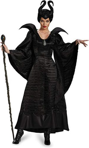Fantasia Adulto Malévola Luxo Women's Disney Maleficent Black Christening Gown Costume