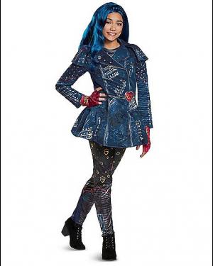 Fantasia Descendentes 2 Disney Evie Infantil Luxo Kids Evie Costume Deluxe – Descendants 2