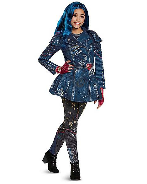 Fantasia Descendentes 2 Disney Evie Infantil Luxo Kids Evie Costume Deluxe – Descendants 2