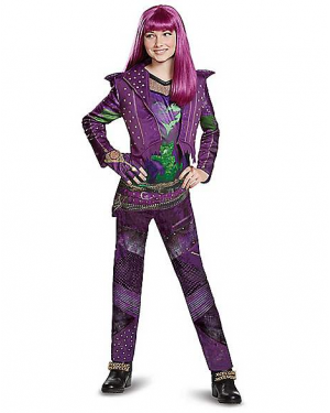 Fantasia Descendentes 2 Disney Mal Infantil Elite Kids Mal Costume Deluxe – Descendants 2