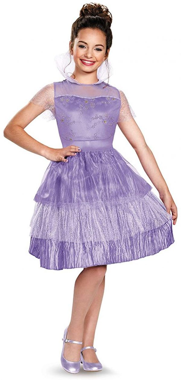 Fantasia Descendentes Disney Mal Vestido Infantil Luxo Disney's Descendants: Girls Deluxe Mal Coronation