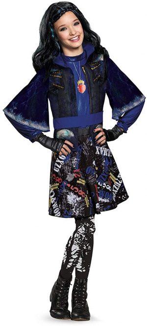 Fantasia Evie Descendentes Infantil Luxo Disguise Descendants Evie Isle of The Lost Kids
