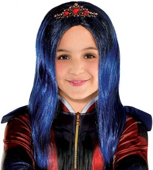 Peruca Descendentes 3 Disney Evie Infantil Luxo Evie Wig  Descendants 3
