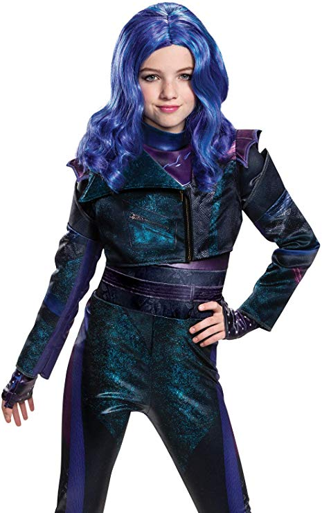 Peruca Descendentes 3 Disney Mal Infantil Luxo Descendants 3 Mal Child Wig