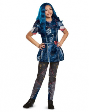 Fantasia Descendentes 2 Disney Evie Infantil Clássica Kids Classic Isle Evie Costume – Descendants 2