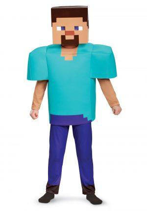 Fantasia Infantil Minecraft – Minecraft Steve Deluxe Costume Boys