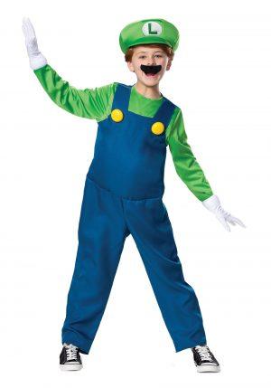 Fantasia Super Mario Brothers Boys Luigi – Super Mario Brothers Boys Luigi Deluxe Costume