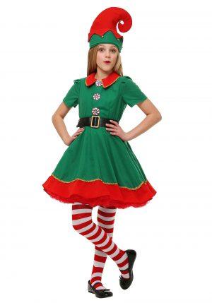 Fantasia de elfo para Meninas – Girls Holiday Elf Costume