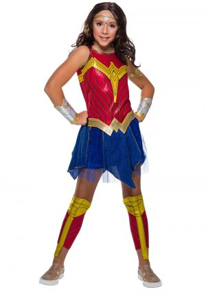 Fantasia de mulher maravilha infantil para meninas – Wonder Woman Deluxe Costume for Girls